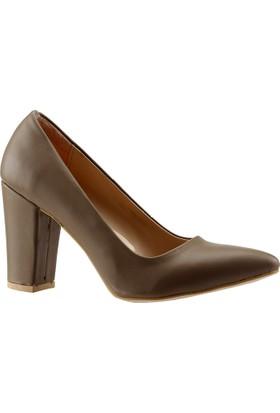 Paddy 2835 Vizon Stiletto Kadın Ayakkabı