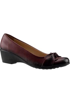 Ayakdaş 902 Bordo Dolgu Kadın Ayakkabı