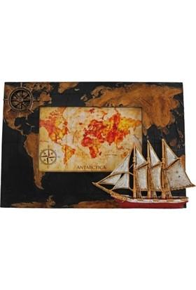 Giftpoint Gp-1849 Vintage Yelkenli Çerçeve 6*4''