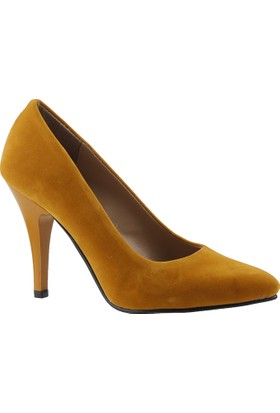 Armada 33 Hardal Stiletto Kadın Süet Ayakkabı