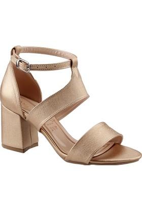 Ayakland 11005-249 Altın Kadın Sandalet