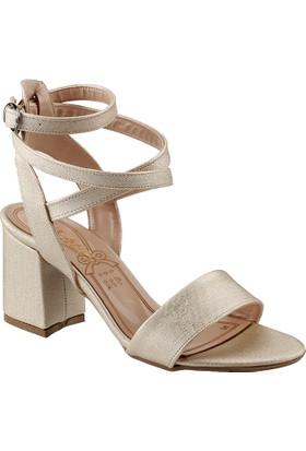 Ayakland 11005-244 Altın Kadın Sandalet