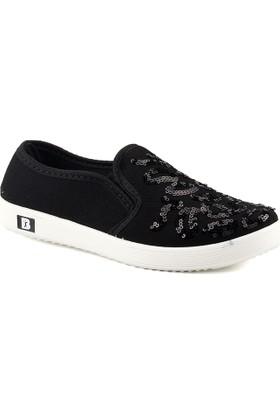 My Almira 220 Siyah Pullu Kadın Ayakkabı