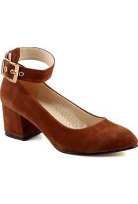 Femin 1294 Kahve Kadın Süet Ayakkabı