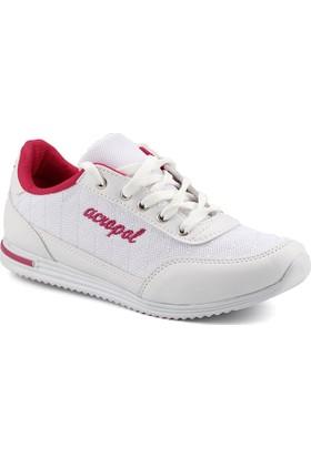 Acropol 100 Beyaz Yürüyüş Koşu Kadın Spor Ayakkabı