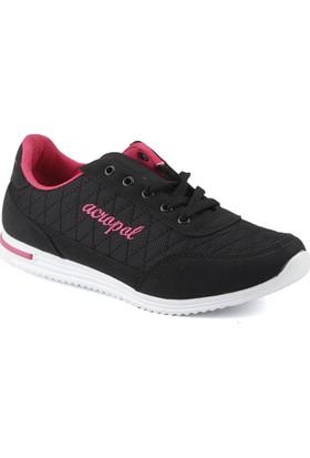Acropol 100 Siyah Yürüyüş Koşu Kadın Spor Ayakkabı