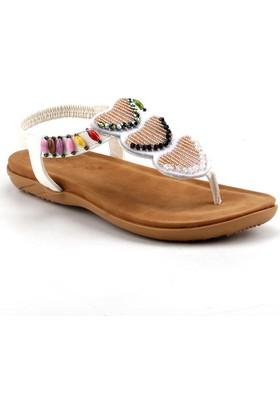 Guja 18Y210-26 Beyaz Kadın Sandalet Terlik