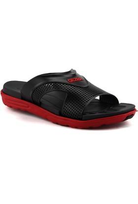 Gezer 9556 Siyah-Kırmızı Erkek Terlik