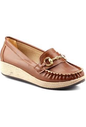 Servet 1145 Taba Kalın Kadın Ayakkabı