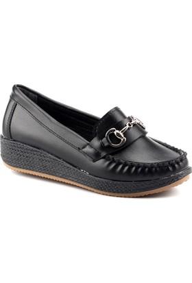 Servet 1145 Siyah Kalın Kadın Ayakkabı