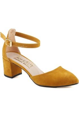 Ayakland Bsm 346 Hardal Kadın Süet Ayakkabı