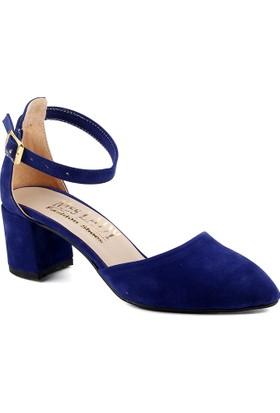 Ayakland Bsm 346 Saks Kadın Süet Ayakkabı