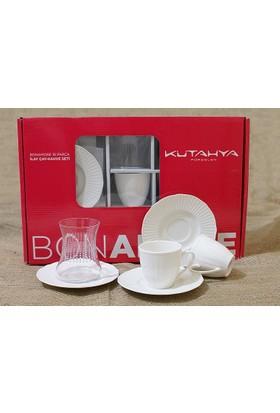 Kütahya Porselen Ilay Bonemare 18 Parca Cay Ve Türk Kahve Set