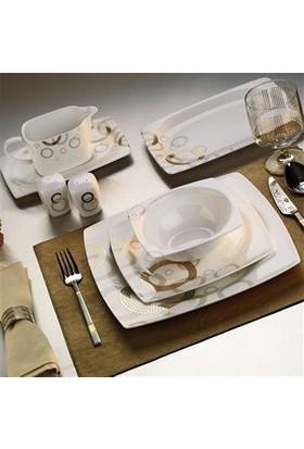 Kütahya Porselen Aliza Bone 83 Parça 35101 Dekor Yemek Takımı