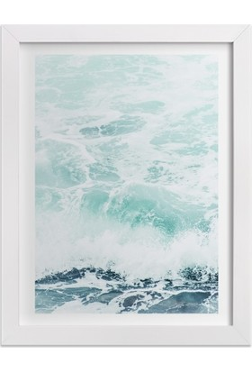 Ahşap Mahzeni Çerçeveli Tablo Deniz Dalgası