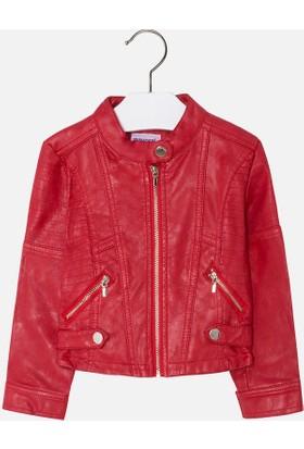 Mayoral 183412 Deri Ceket Kırmızı