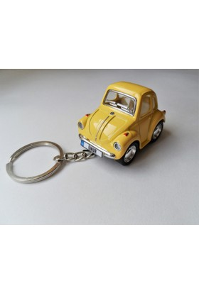 Hediye Aşkı - Kişiye İsme Özel Sarı Plakalı Metal Vosvos Anahtarlık Beetle Volkswagen