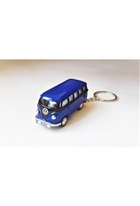Hediye Aşkı - Kişiye İsme Özel Lacivert-Siyah Plakalı Metal Vosvos T1 Bus Otobus Anahtarlık Volkswagen