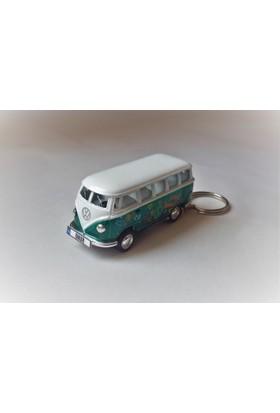 Hediye Aşkı - Kişiye İsme Özel Yeşil Love Plakalı Metal Vosvos T1 Bus Otobus Anahtarlık Volkswagen