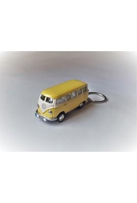 Hediye Aşkı - Kişiye İsme Özel Sarı Plakalı Metal Vosvos T1 Bus Otobus Anahtarlık Volkswagen