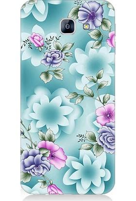 Teknomeg Samsung Galaxy A8 2016 Bahar Çiçekleri Desenli Tasarım Silikon Kılıf
