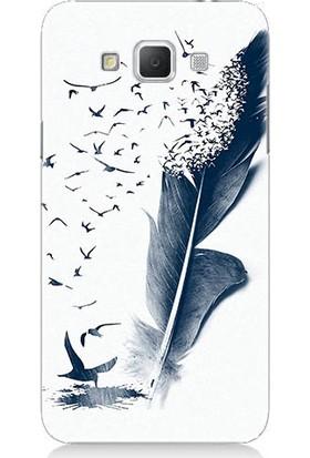 Teknomeg Samsung Galaxy Grand Max Kuş Tüyü Desenli Tasarım Silikon Kılıf