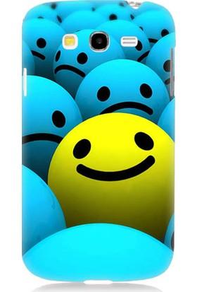 Teknomeg Samsung Galaxy Grand Neo Gülümseyen Smiley Desenli Tasarım Silikon Kılıf