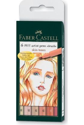 Faber-Castell Pitt Çizim Kalemi Fırça Uç Ten Rengi 6'Lı Poşet