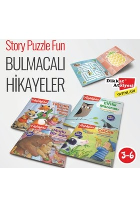 Highlights Sticker Bulmacalı Hikayeler 4'Lü Set