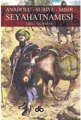 Anadolu – Suriye – Mısır Seyahatnamesi - Şibli Numani