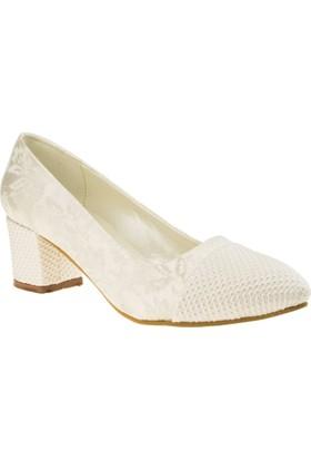 Alisolmaz 157 Kısa Topuk Beyaz Kadın Abiye