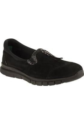 Forelli 29434 Memory Foam Bağsız Comfort Siyah Kadın Ayakkabı