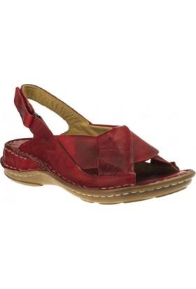 Consuelo 340 Çapraz Bant Kırmızı Kadın Sandalet
