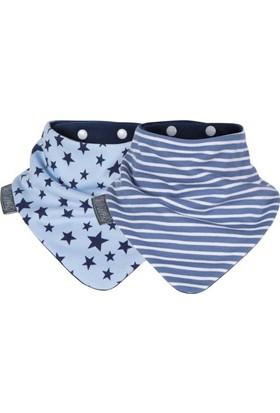 Cheeky Chompers Neckerbib Fular Önlük - 2'li - Blue Stars & Stripes