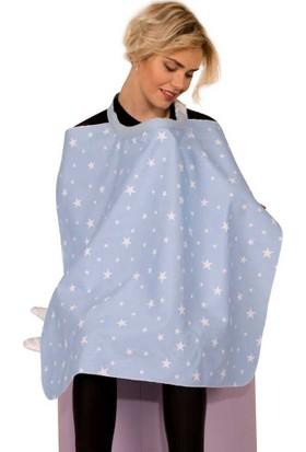 Sevi Bebe Tokalı Anne Emzirme Örtüsü - Mavi Yıldız