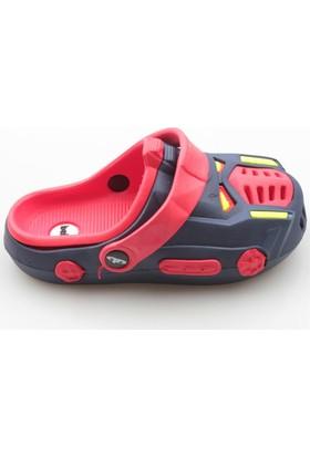 Jolly Shoes Araba Şeklinde Terlik Sandalet Olabilen - Kırmızı Siyah