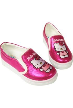 Jolly Shoes Önü Kedili Pırıltılı Ayakkabı - Fuşya