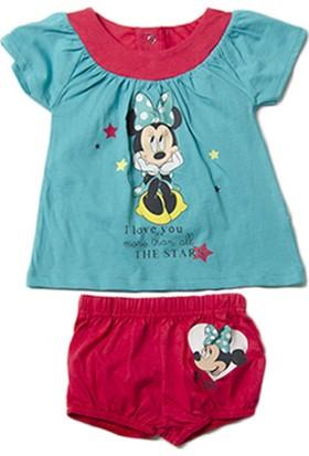 Disney Baby & Junior Minnie Mouse Külotlu Elbise Mint