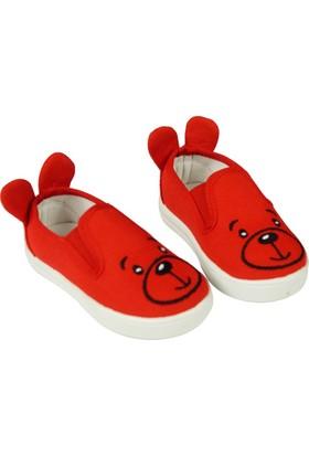 Jolly Shoes Kedili Kulaklı Ayakkabı - Kırmızı