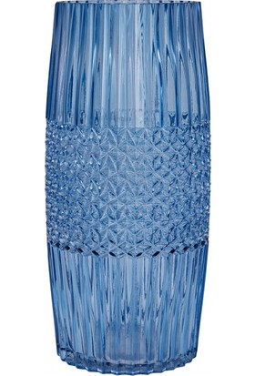Karaca İndigo Vazo 23x9 cm Büyük Mavi