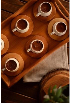 Bambum Ottoman - 6 Kişilik Kahve Takımı Sade