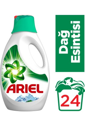 Ariel Sıvı Çamaşır Deterjanı Dağ Esintisi 24 Yıkama Beyazlar Ve Renkliler İçin
