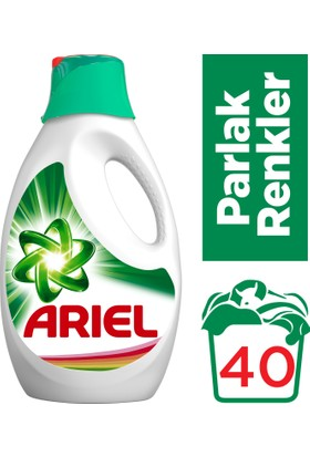 Ariel Sıvı Çamaşır Deterjanı Parlak Renkler 40 Yıkama