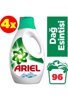 Ariel Sıvı Çamaşır Deterjanı Dağ Esintisi 24 Yıkama 4'lü Paket