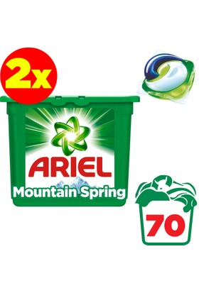 Ariel Pods Sıvı Çamaşır Deterjanı Kapsülü Dağ Esintisi 2 x 35 Yıkama (70 Yıkama)