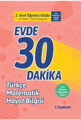 Tudem Yayınları2. Sınıf Evde 30 Dakika Türkçe Matematik Hayat Bilgisi Soru Ev Çalışması Yeni 2019 Müfredat