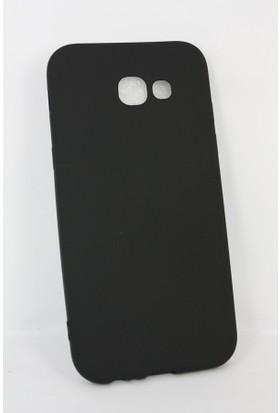 Case 4U Samsung Galaxy A5 2017 Kılıf Slim Fit Mat Silikon Siyah+ Cam Ekran Koruyucu
