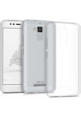 Case 4u Asus Zenfone 3 Max ZC520 Silikon Kılıf Şeffaf + Cam Ekran Koruyucu