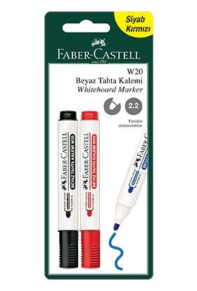 Faber - Castell Blister Beyaz Tahta Siyah - Kırmızı 2'li