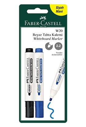 Faber - Castell Blister BeyazöF.C.BLS. BEYAZ TAHTA 152 SİYAH-MAVİ 2Lİ